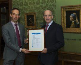 Mauritshuis krijgt certificaat voor brandmeldinstallatie