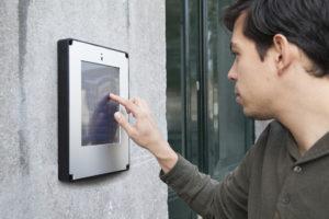 Digitale intercom voor bedrijfsverzamelgebouwen