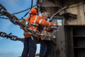 Sensor meet impact aanmeren bulkcarriers