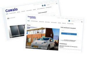 Nieuwe sites voor Installatie Journaal en Gawalo