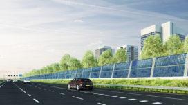 Energie opwekken met geïntegreerde zonnegeluidsschermen