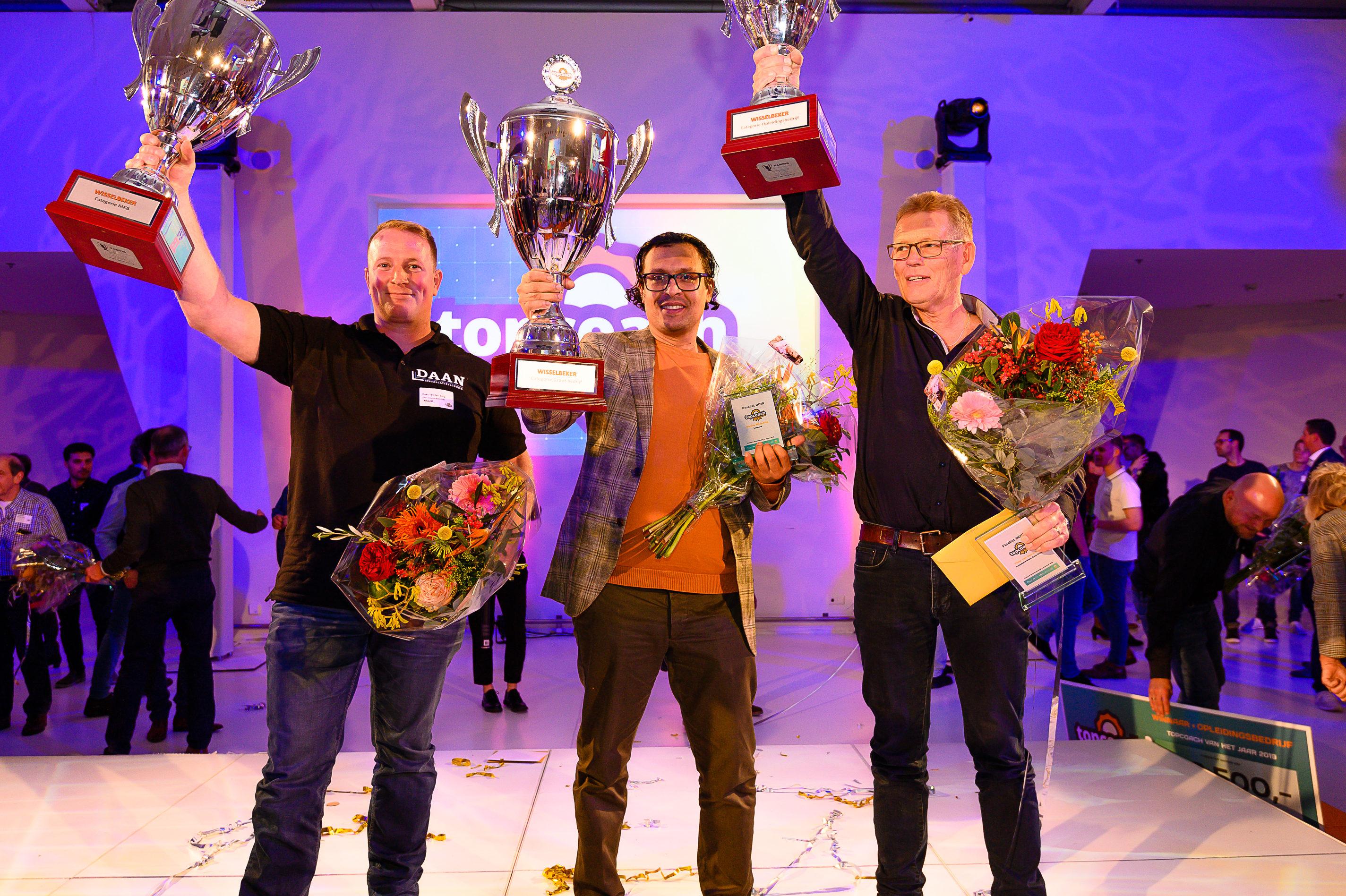 Sanjay Bhoendie, Daan van den Berg en Theo van den Elzen topcoaches van het jaar 2019 - installatiejournaal.nl